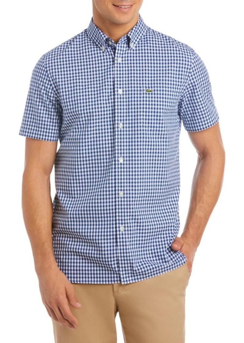 7a642bf4140bdf Lacoste Lacoste Gingham Regular-Fit Cotton Poplin Button-Down Shirt ...