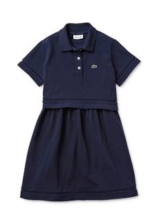 Lacoste Girls' Short-Sleeve Piqu� Polo Dress - Little Kid, Big Kid