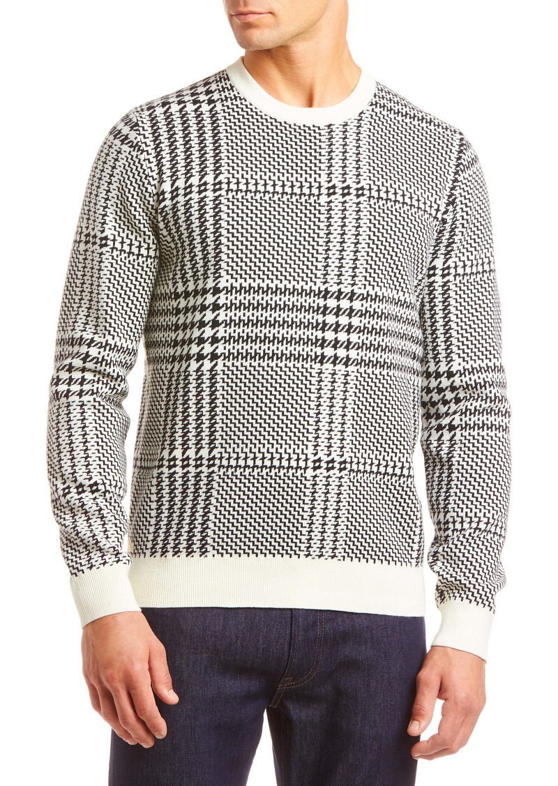 Lacoste Glen Plaid Crewneck Sweater
