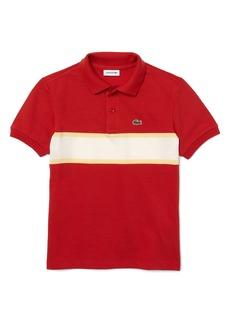 Lacoste Kids' Colorblock Stripe Piqué Polo (Baby, Toddler, Little Boy & Big Boy)