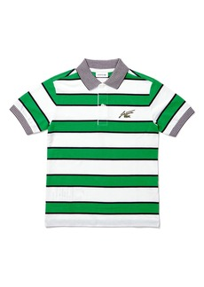 Lacoste Kids' Stripe Piqué Polo (Baby, Toddler, Little Boy & Big Boy)