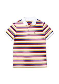Lacoste Kids' Tricolor Stripe Piqué Polo (Baby, Toddler, Little Boy & Big Boy)