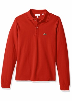 Lacoste Little Boy Long Sleeve Classic Solid Pique Polo red