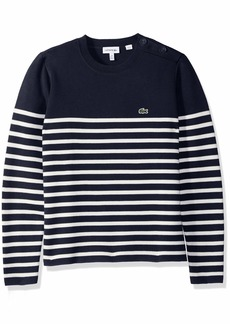 Lacoste Little Boy Milano Striped and Buttoned Sweater