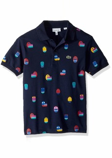 Lacoste Little Boy Short Sleeve Video Game All Over Print Pique Polo