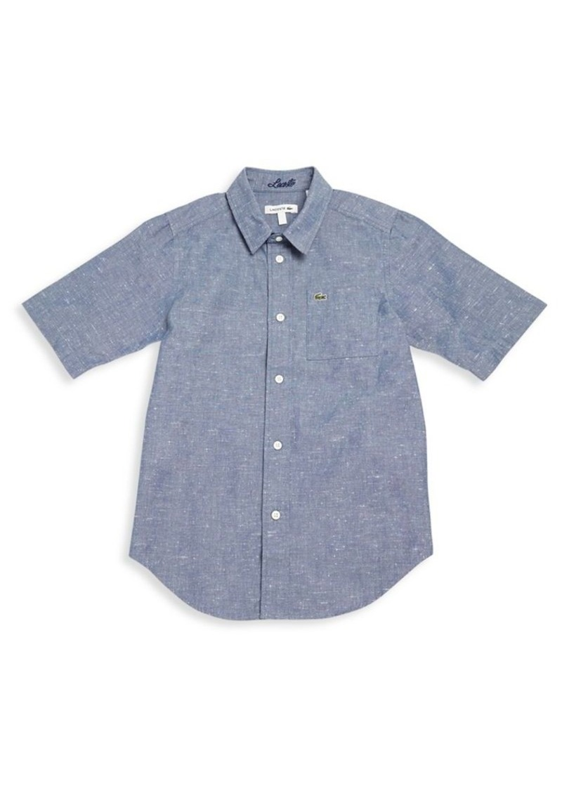 Lacoste Little Boy's & Boy's Button-Front Chambray Shirt