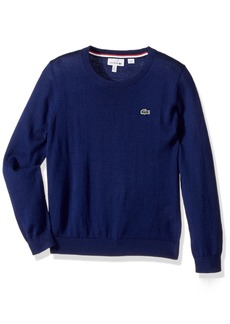 Lacoste Little Boys' Long Sleeve Graphic Sweater
