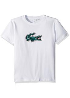 Lacoste Little Boys' Short Sleeve Jersey Croc Print T-Shirt