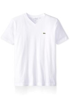 Lacoste Little Boys' Short Sleeve Jersey V-Neck T-Shirt