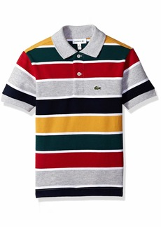 Lacoste Little Boy Short Sleeve Multico Stripes Pique Polo PLUVIER Chine/White/Light