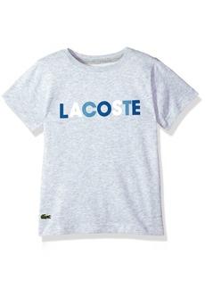 Lacoste Little BOY Short Sleeve Technical Jersey Sport Print T-Shirt