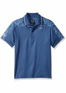 Lacoste Little Boy Sport Short Sleeve Novak Print Polo