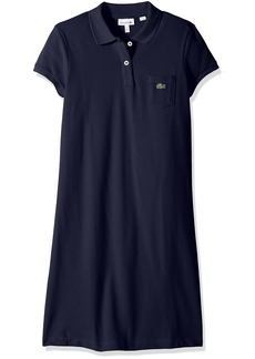 Lacoste Little Girls' Classic Pique Dress with Pocket