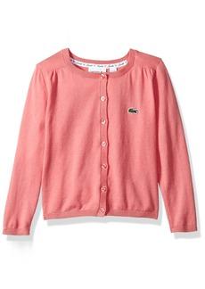 Lacoste Little Girls' Long Sleeve Cardigan