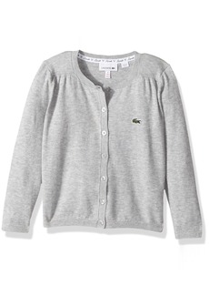Lacoste Little Girls' Long Sleeve Cardigan