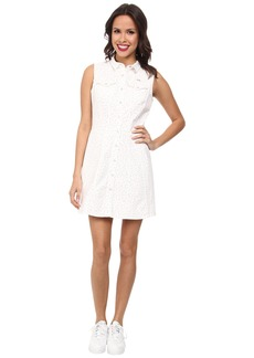 Lacoste L!ve Sleeveless Snap Front Shirt Dress