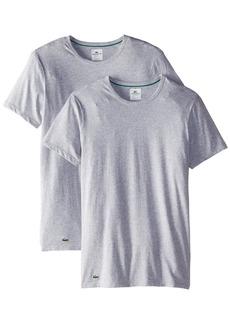Lacoste Men's 2-Pack Colours Cotton Stretch Crew T-Shirt  X-Large
