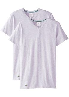 Lacoste Men's 2-Pack Colours Cotton Stretch V-Neck T-Shirt  Large
