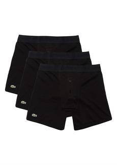 Lacoste Men's 3-Pack Essential Cotton Boxer Briefs