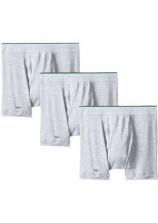 Lacoste Men's 3-Pack Essentials Cotton Boxer Brief Grey