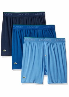 Lacoste Men's 3 Pack Supima Cotton Boxer Brief  XL
