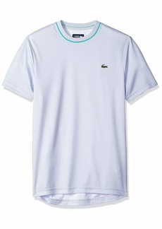 Lacoste Men's Allover Back Print Short Sleeve Ultra Dry Tee Armour/White-Papeete