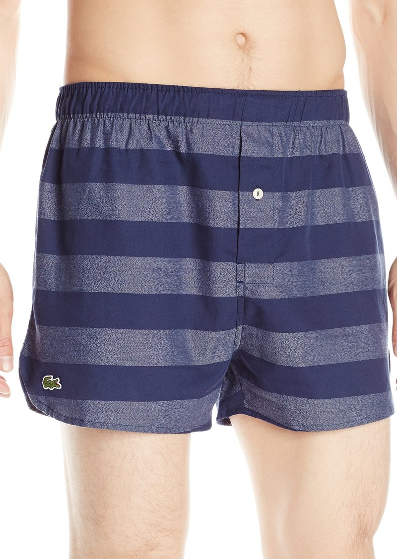Lacoste Men's Authentics Wide Bar Woven Boxer