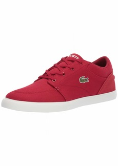 Lacoste Men's Bayliss Sneaker red/Off White  Medium US