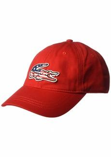 Lacoste Men's Big Croc USA Gabardine Cap