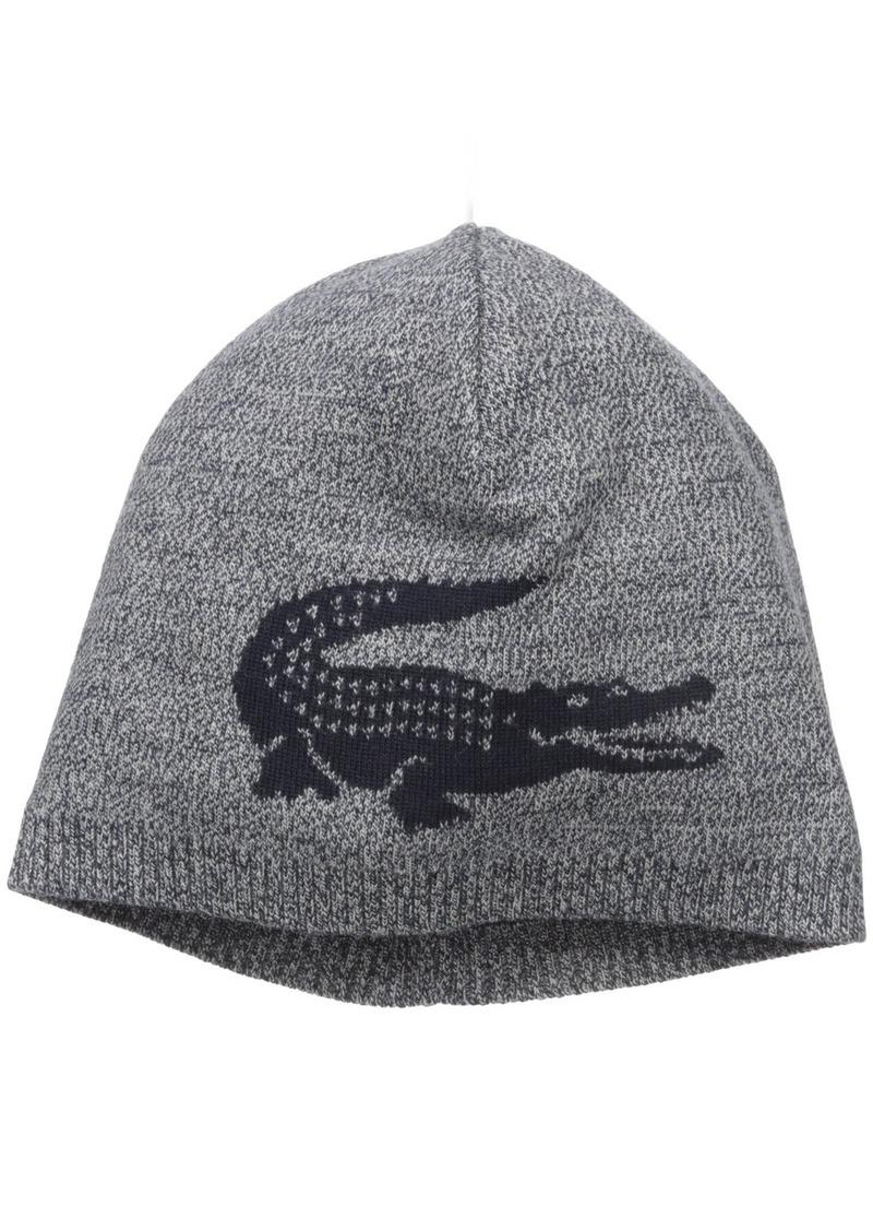 a85d8ff2eca Lacoste Lacoste Men s Big Crocodile Jacquard Reversible Wool Beanie ...