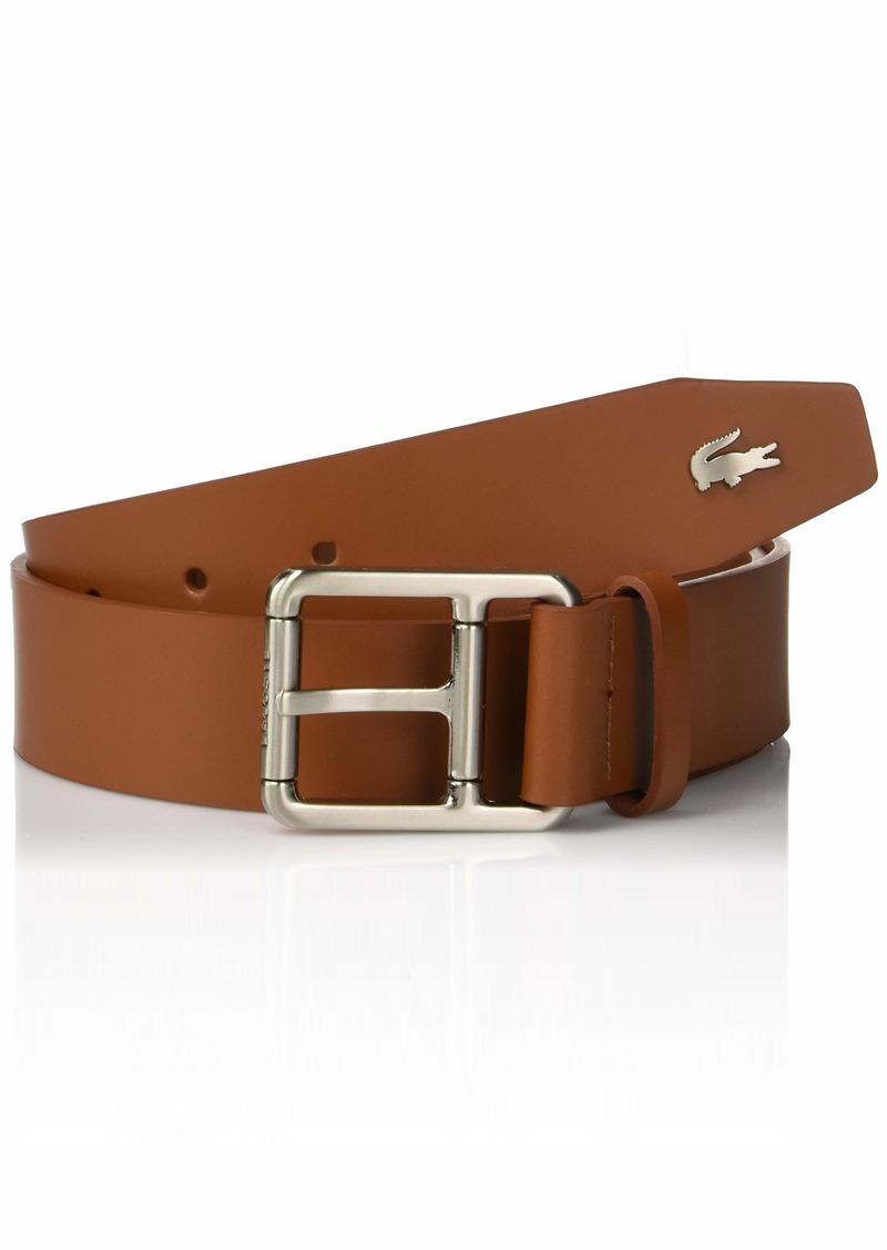 Lacoste Men's Buckle Belt W/Croc Detailing  37 Inch