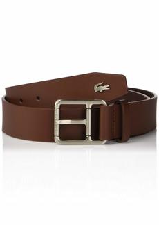 Lacoste Men's Buckle Belt W/Croc Detailing  43 Inch