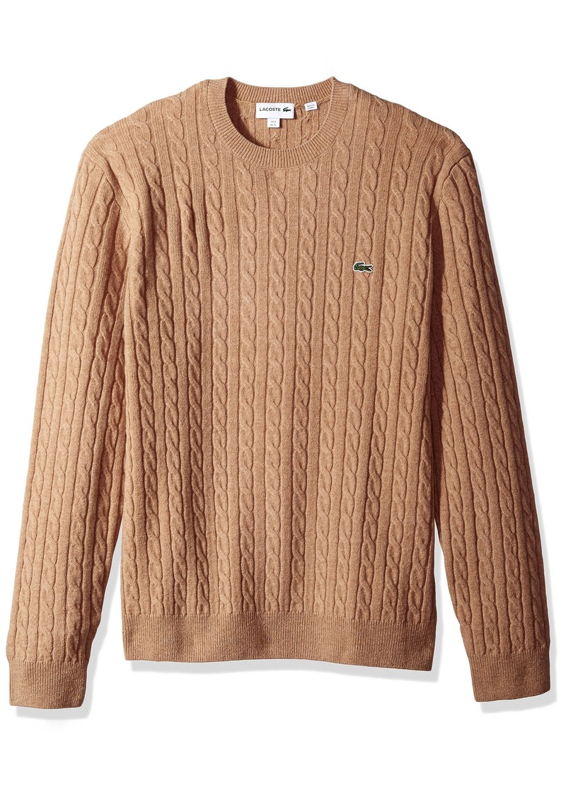 Lacoste Men's Cable Stitch Wool Sweater  4X-Large