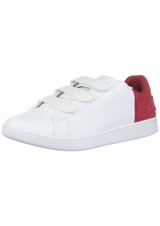 Lacoste Men's Carnaby Sneaker White/red  Medium US
