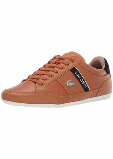 Lacoste Men's Chaymon Sneaker tan/Off White  Medium US