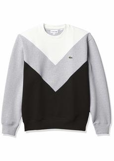Lacoste Men's Chevron Colorblock Crewneck Sweatshirt  L