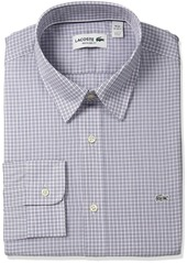 Lacoste Men's City Long Sleeve Small Poplin Plaid CH9855-51