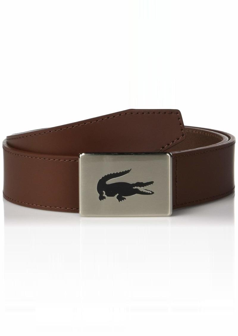 Lacoste Men's Classic Big Croc Buckle Belt