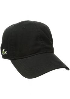 Lacoste Men's Men's Classic Gabardine 3cm Croc Cap black