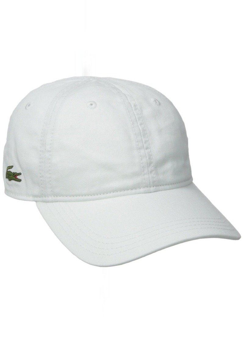 3796b01abb136 Lacoste Lacoste Men s Cotton Gabardine Cap with Signature Green Croc
