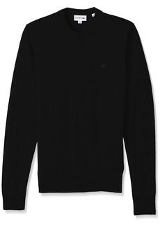 Lacoste Men's Classic Lambswool Crewneck Sweater w/Tonal Croc-AH2997