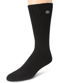 Lacoste Men's Classic Rib Crew Sock