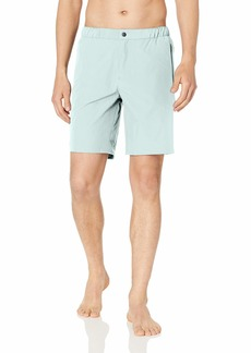 Lacoste Men's Classic Solid Stretch Integrated Boxer Long Length