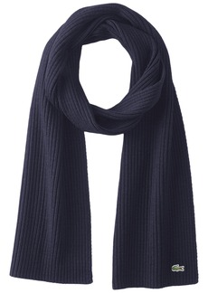 Lacoste Men's Classic Wool Ribbed Scarf