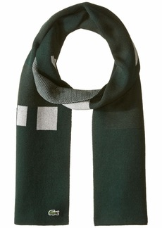 Lacoste Men's Colorblock Graphic Scarve SINOPLE/multi