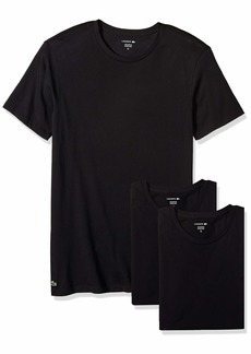 Lacoste Men's Cotton Crew-Neck T-Shirt Undershirt (3-Pack)