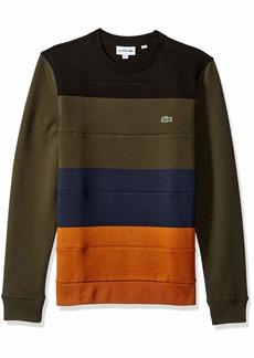 Lacoste Men's Crew Neck Colorblock Fleece Sweatshirt