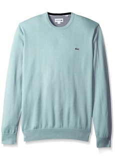 Lacoste Men's Crewneck Cotton Jersey Sweater With Green Croc  XL