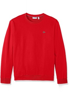 Lacoste Men's Crewneck Fleece with Textured Rib Trim Sweatshirt SH1924-51  4X-Large
