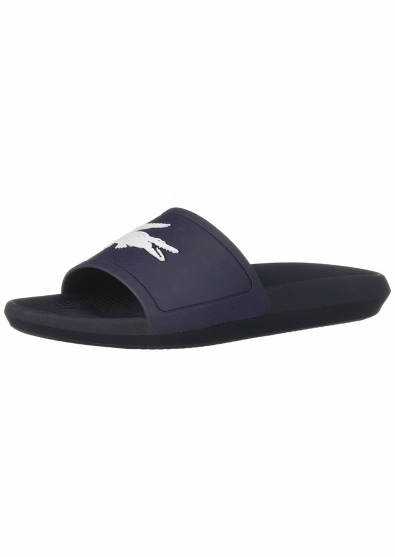 Lacoste Men's Croco Slide Sandal   Medium US